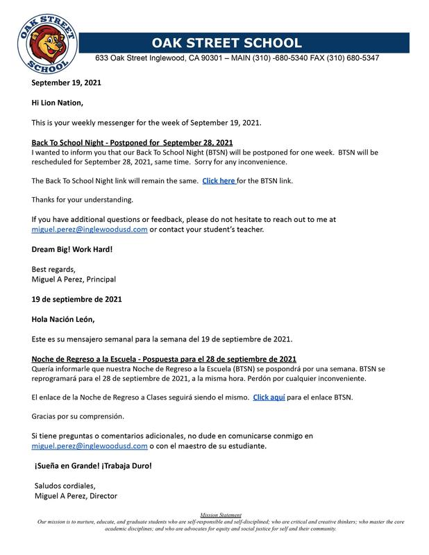 9-19-2021 - Weekly Messenger