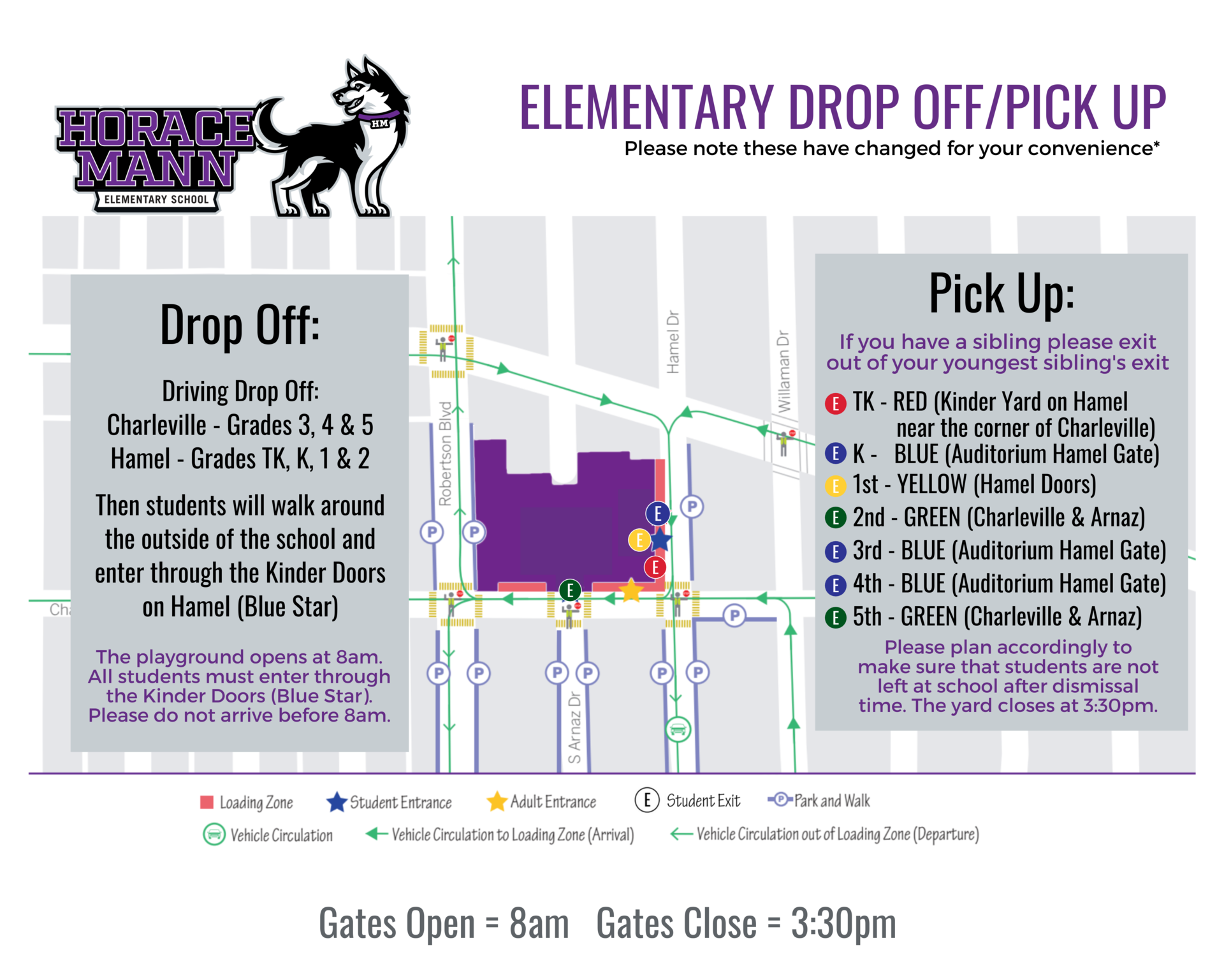 Drop Off and Pick Up - Elementary HM