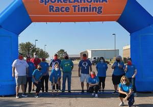 GCTC staff volunteers at the Rocket Man Run.