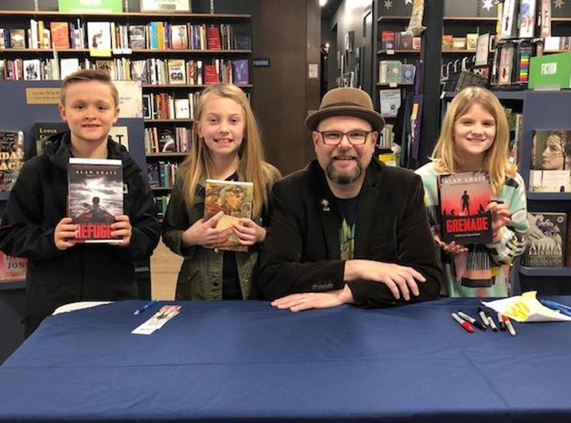 Great times with author Alan Gratz
