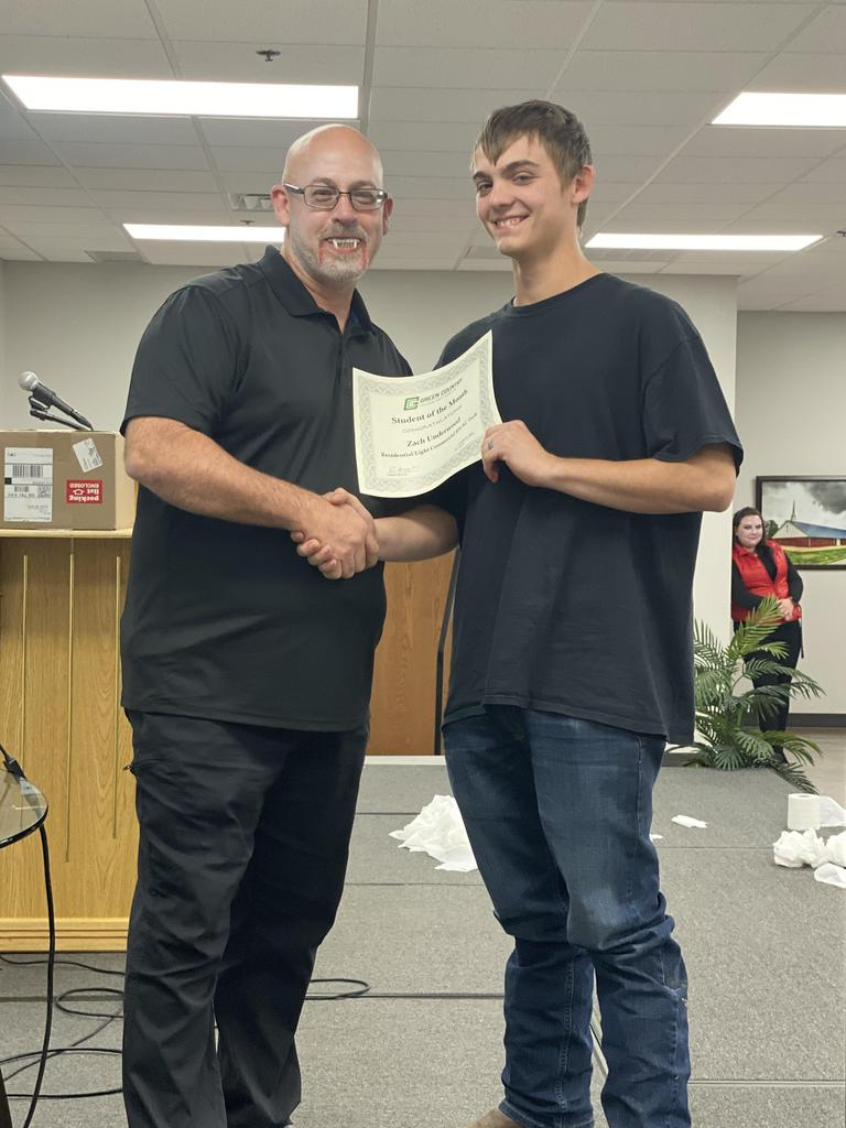 HVAC Student of the Month