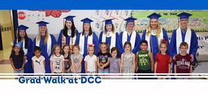 Graduating Seniors with DC Canon Elementary students