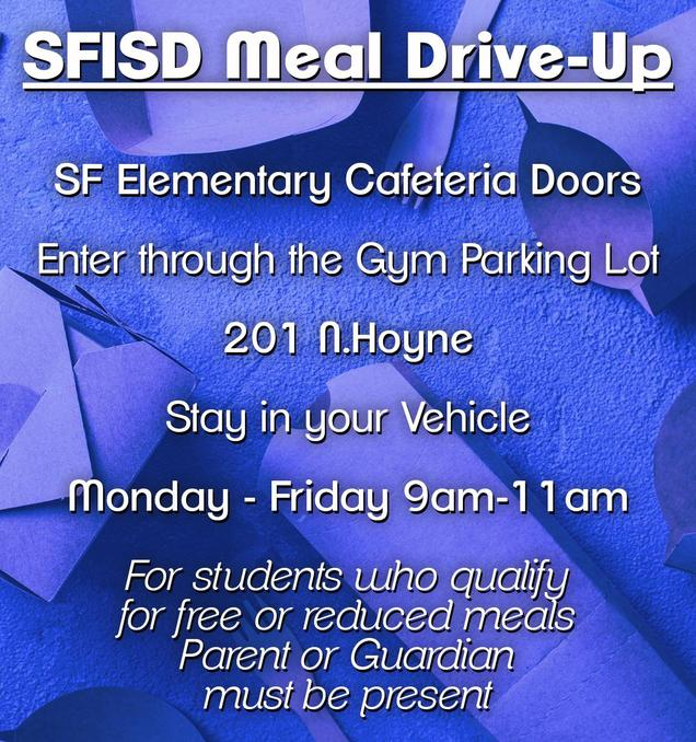 SFISD Meal Pick Up Directions