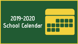 2019-2020 School Calendar Graphic
