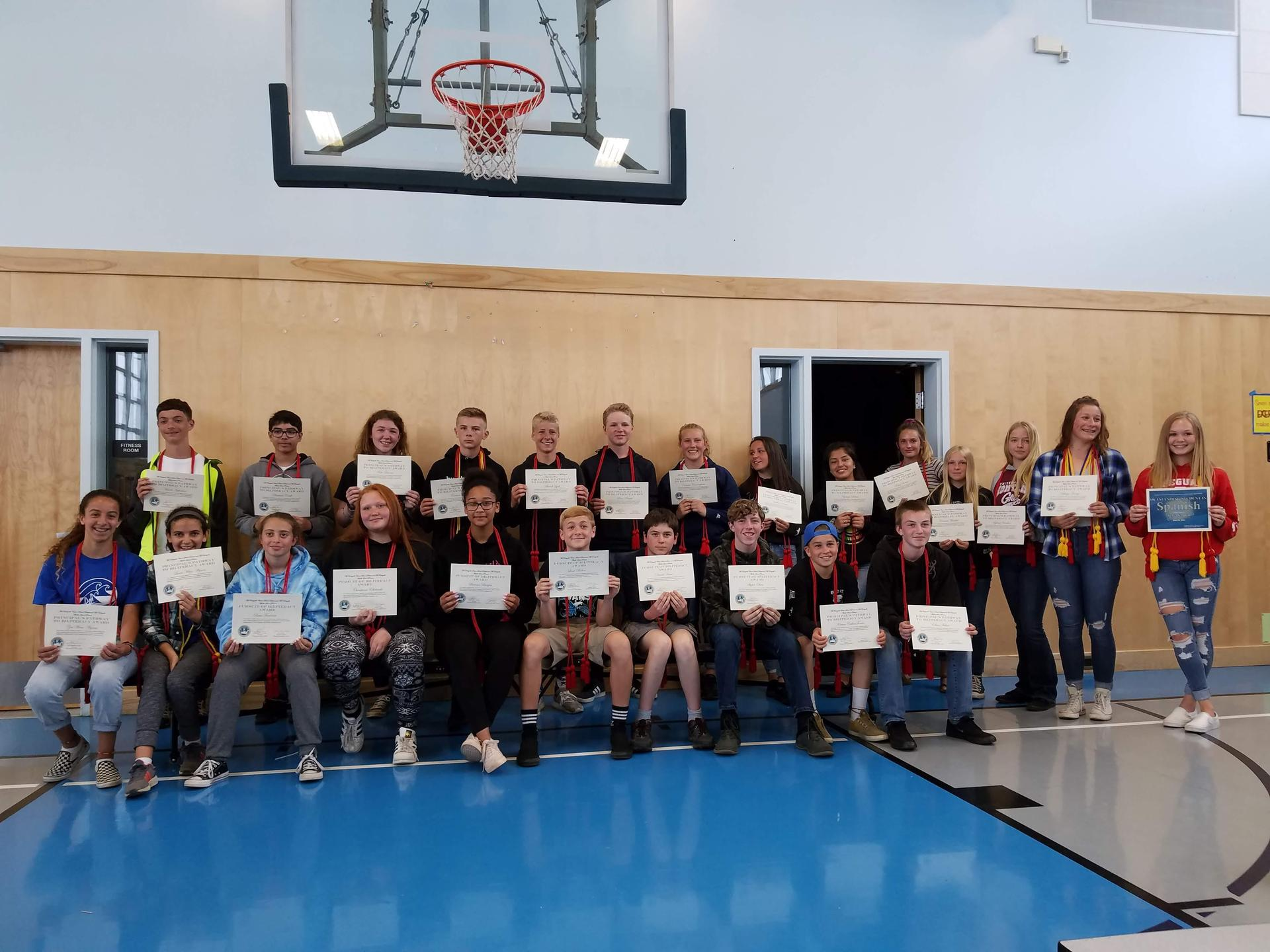 students with CA Seal of Biliteracy Awards