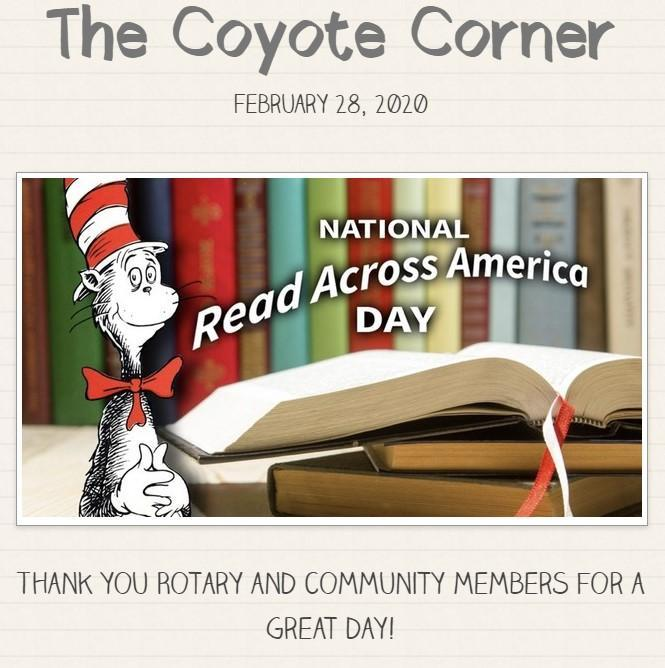 Read Across America Day image from our February 28 newsletter
