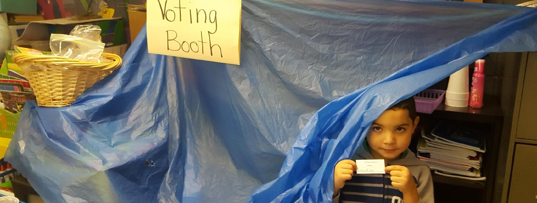 1st grade voting booth