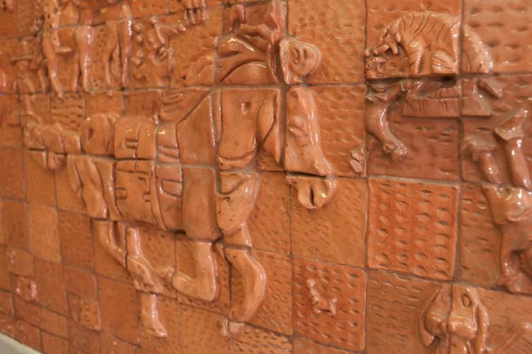 Tile artwork of a horse