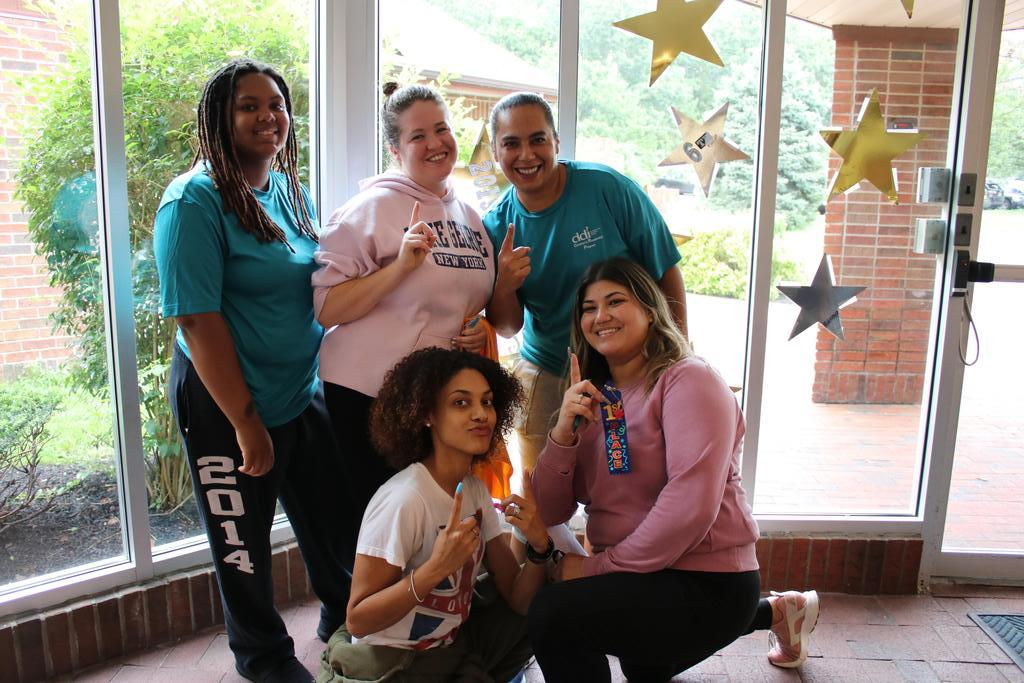 Staff enjoying DSP Week (scavenger hunt winners)