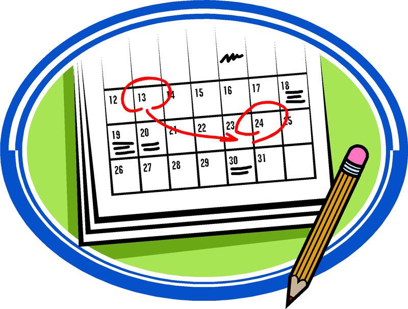 Image of a clip art calendar.