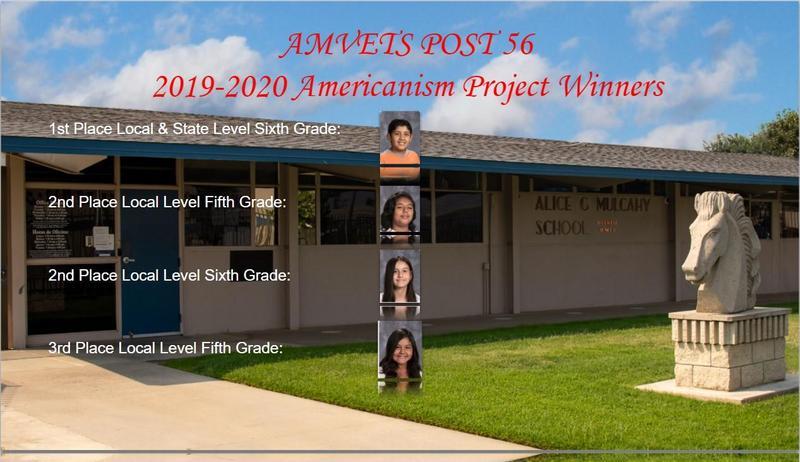 2019-2020 AMVETS Project Winners