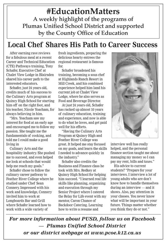 Article on local chef