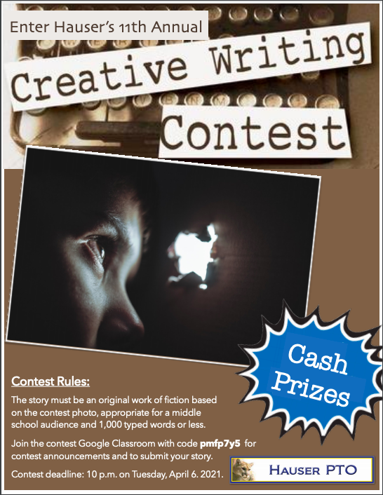 Hauser Creative Writing Contest Featured Photo