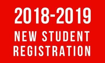 New Student Registration 2018-19 Thumbnail Image