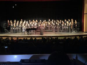 TKHS Choir students will perform in concert at the art festival.