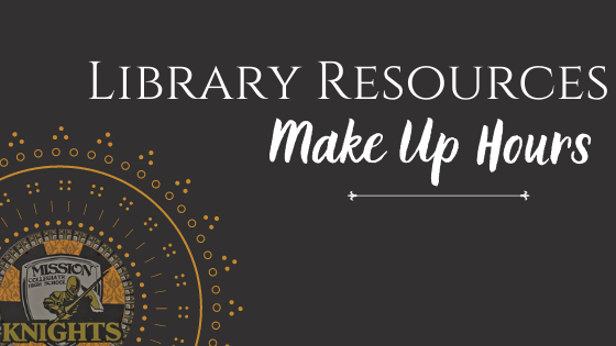 Library Resources to Make Up Hours Featured Photo