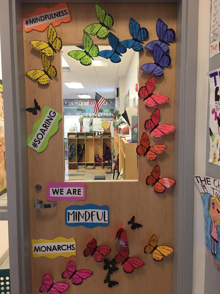 Mindfullness Butterly door decor
