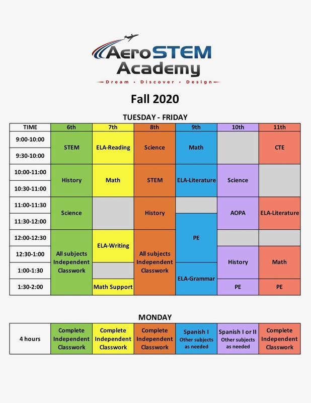 Fall 2020 Schedule
