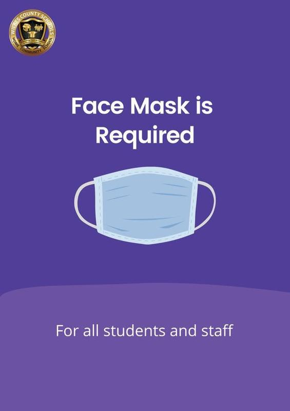 Masks Required for All Students & Staff Effective Tuesday, August 31st Thumbnail Image