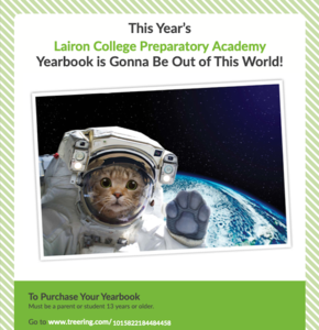 19-20 Lairon Yearbook Flyer