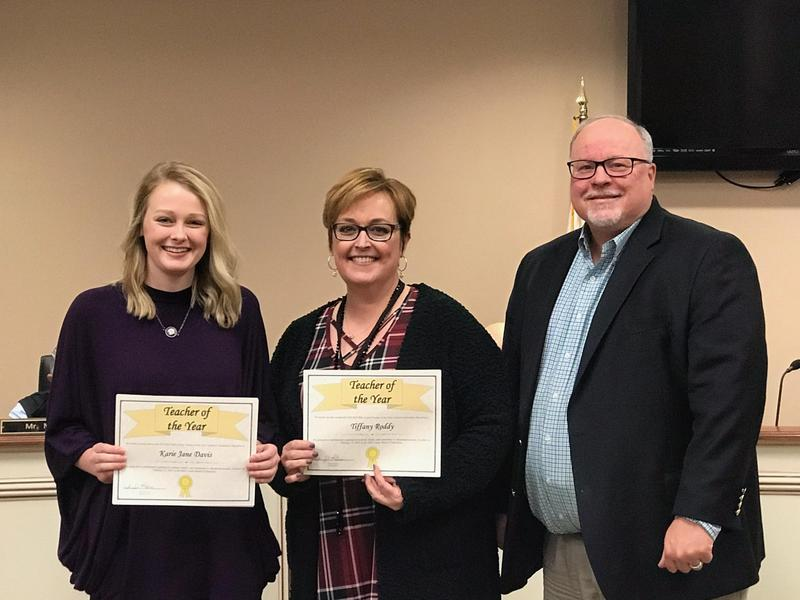 System Teachers of the Year at the February 12 Board Meeting