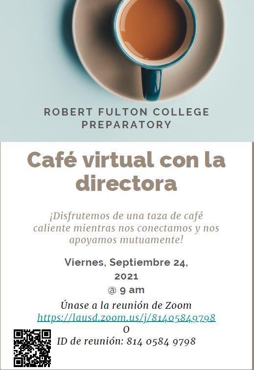 Coffee with the Principal - Cafe con la directora Featured Photo