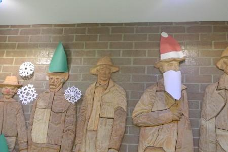 miners dressed for christmas
