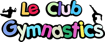 Le Club Gymnastics logo in colorful letters