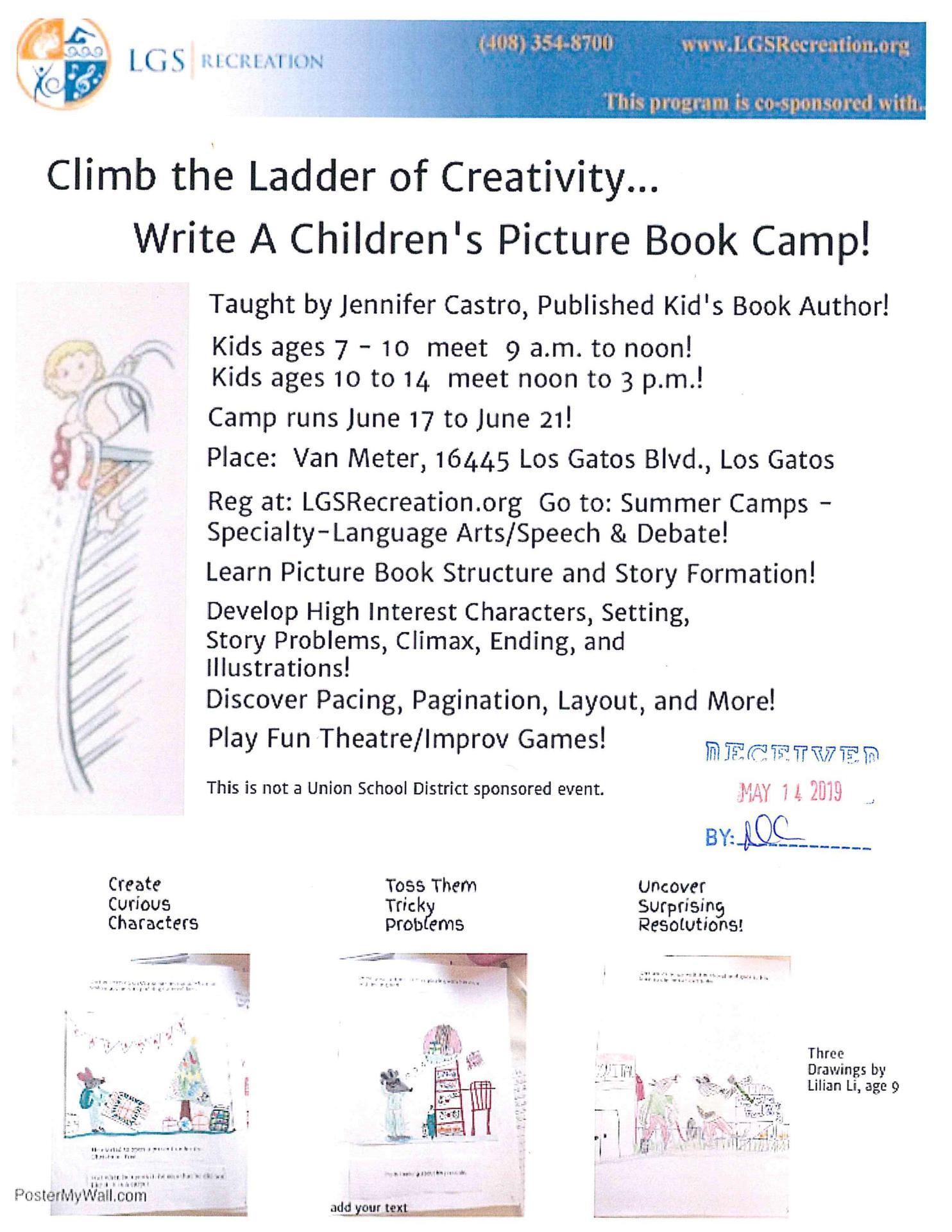 Write a Children's Picture Book Camp