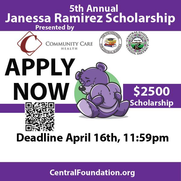Apply Now QR Code Janessa Ramirez Scholarship