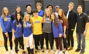 SVHS athletes on signing day