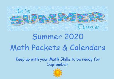Summer Math Info