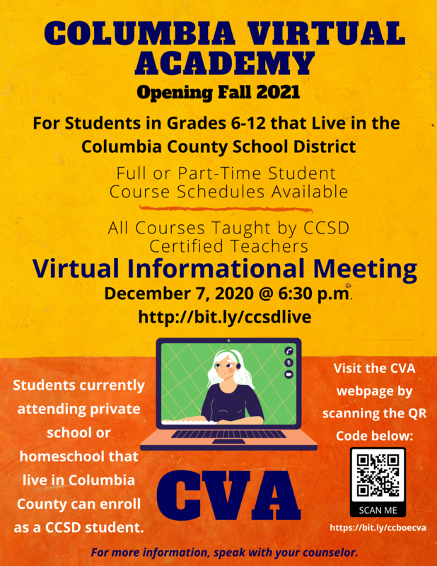 Columbia Virtual Academy infographic