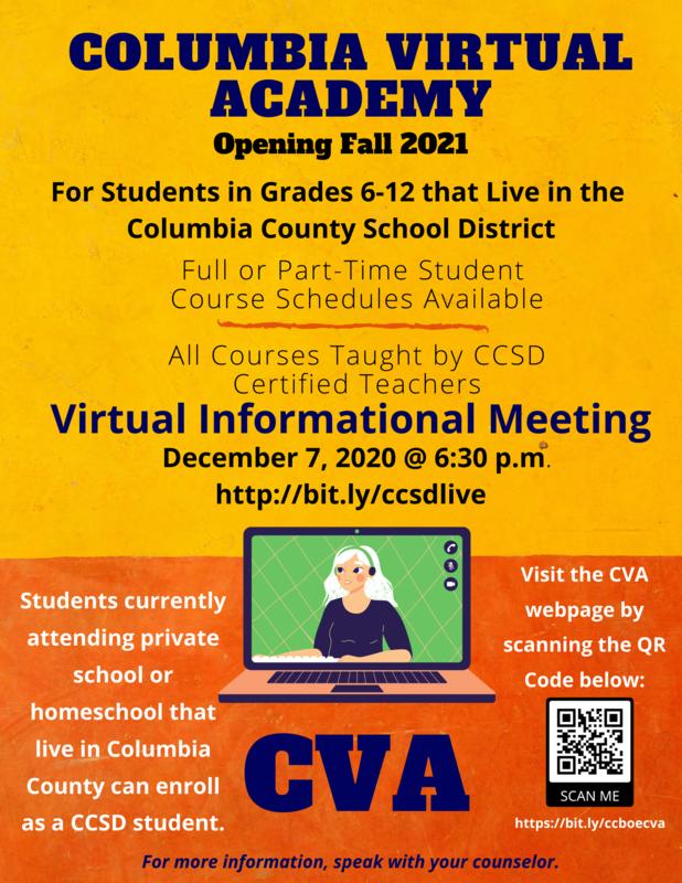 Columbia Virtual Academy infographic