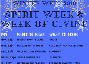 Winter Week Flyer