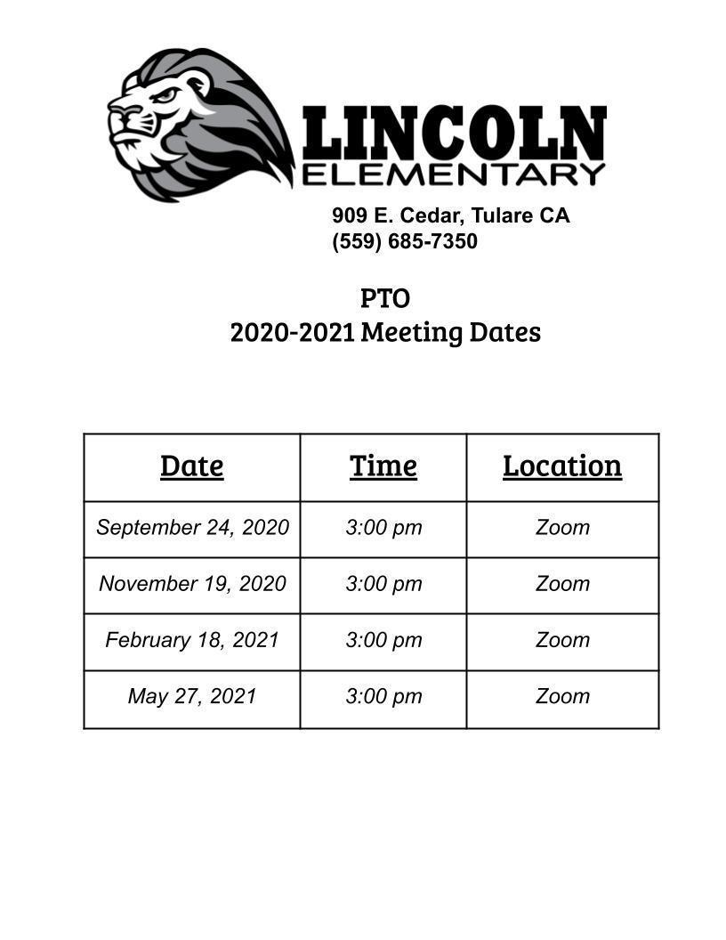 PTO meeting dates 20/21
