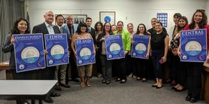 The California Positive Behavioral Interventions and Supports (PBIS) Coalition presented 18 Baldwin Park Unified schools with silver and bronze awards for encouraging a safe and supportive learning environment through the PBIS framework.