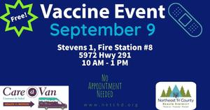 Image advertising September 9th Vaccine Event