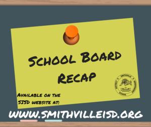 Board Recap