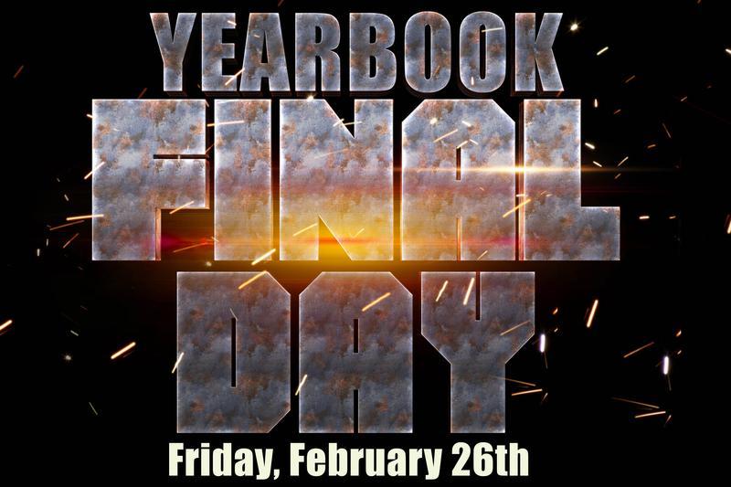 Yearbook sales flyer.