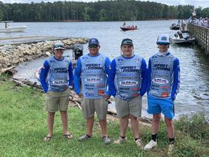Four anglers who compete for Airport