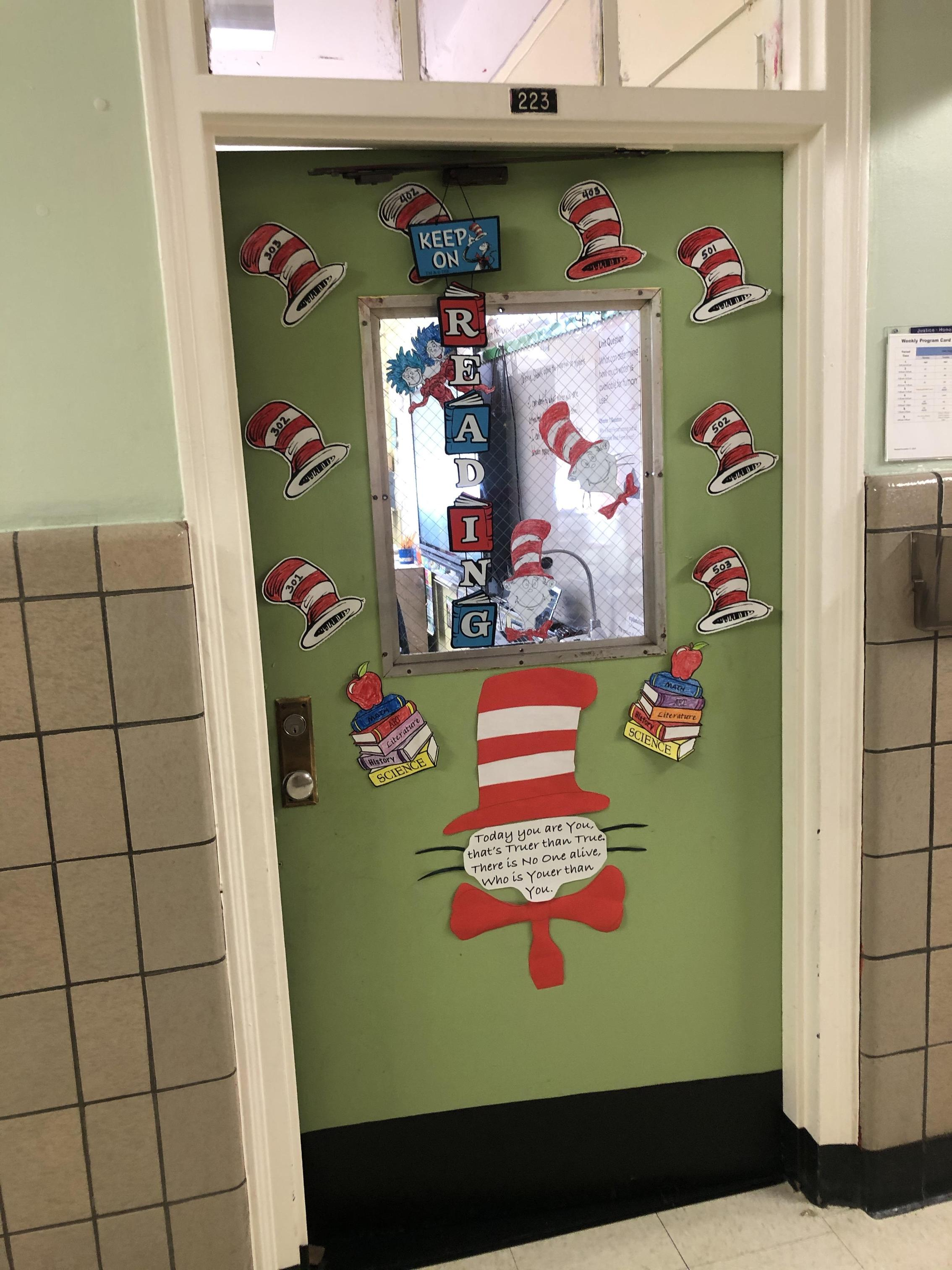 image of dr seuss themed wall decoration