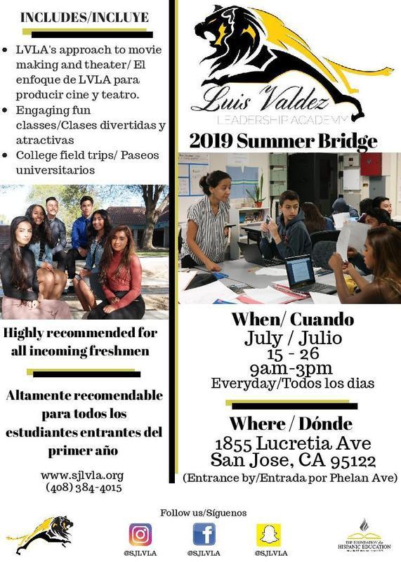 Luis Valdez Leadership Academy - Summer Bridge COMING SOON Featured Photo