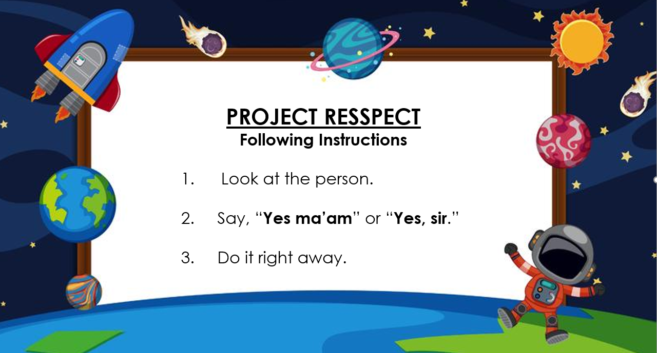 Project RESSPECT: Following Instructions