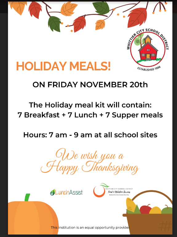 Holiday Meals!