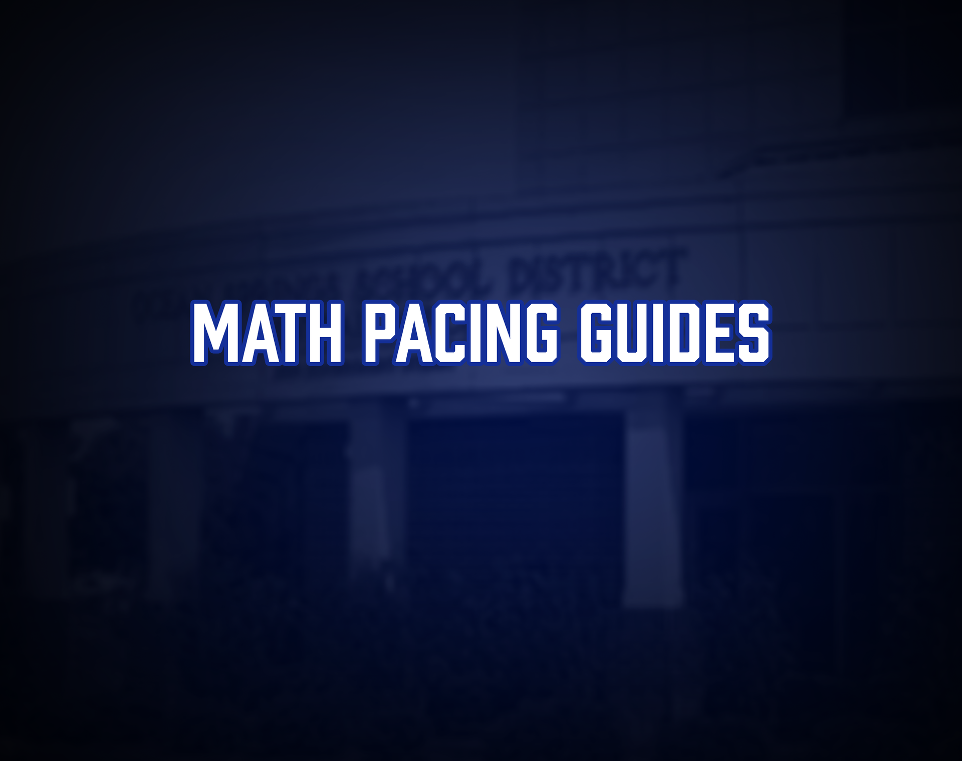 Math Pacing Guides Tile