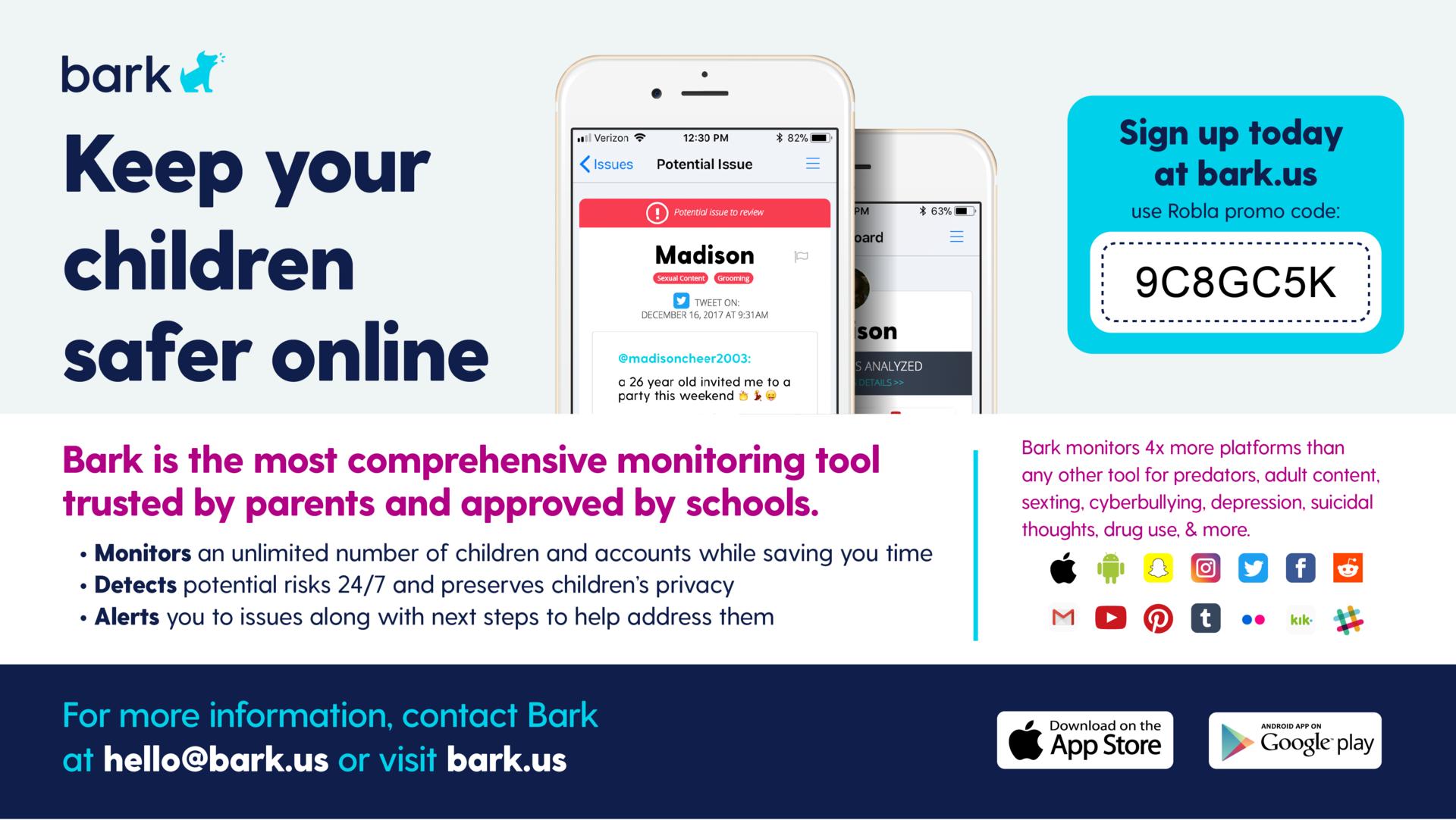 Bark for Schools information