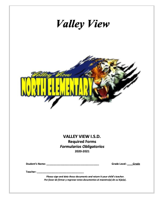 VV North Elementary Official Documents for Parents to sign Thumbnail Image