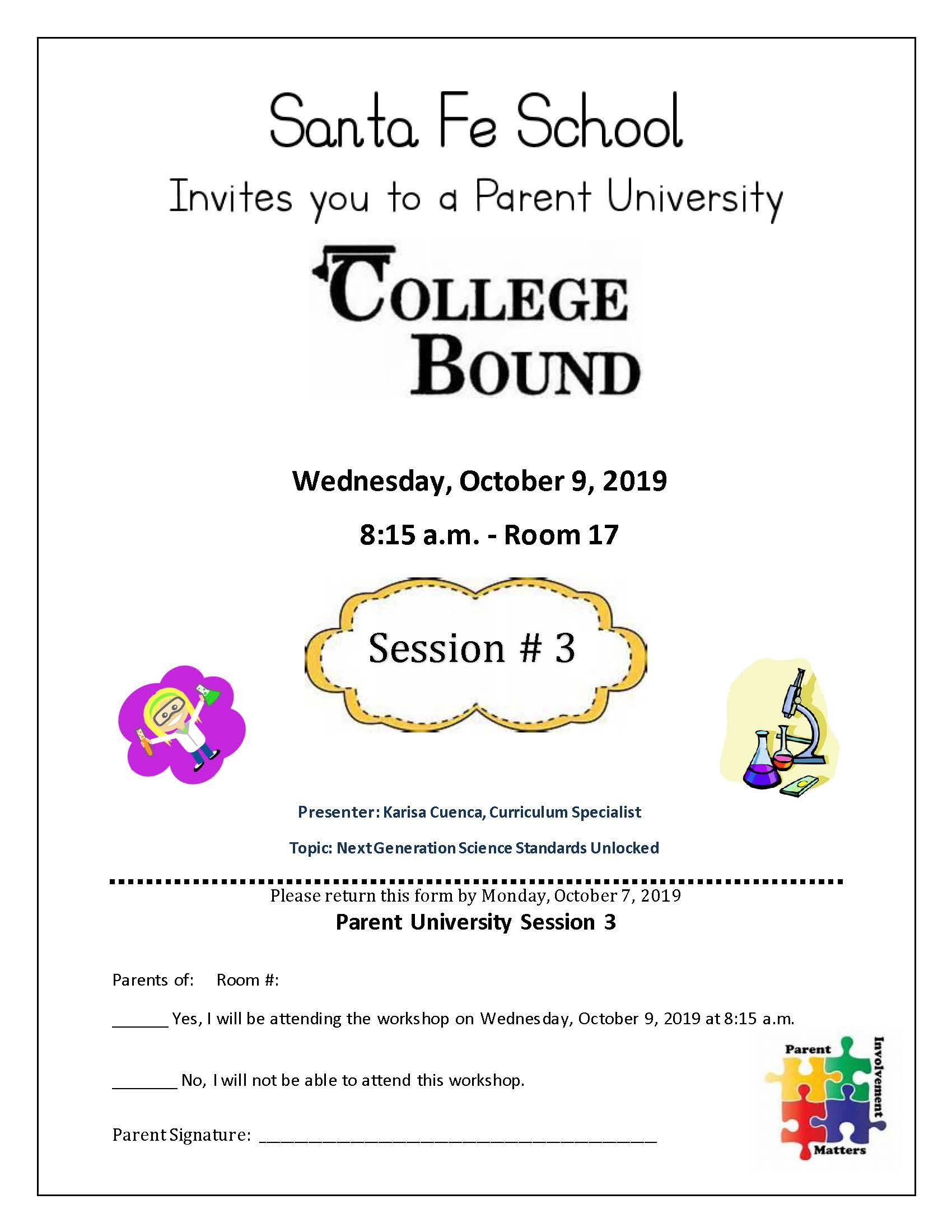 October Parent Meeting
