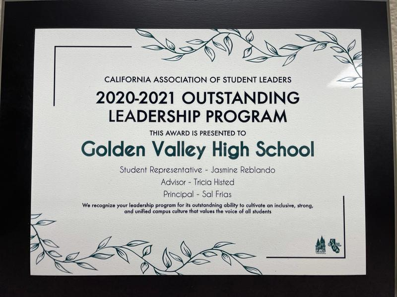 GV's ASB Receives Top Award Featured Photo